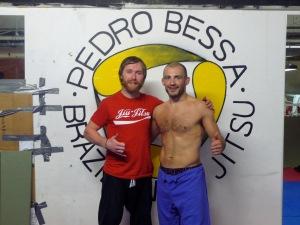 Training at  BJJ Cork